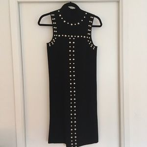 INC - Black Studded Fitted Dress - NWT